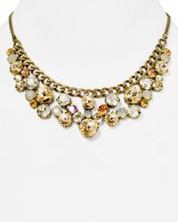 Sorrelli | Metallic Crystal Cluster Bib Necklace, 14"