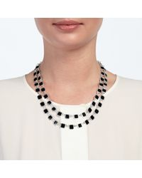 John Lewis - Blue Layer Square Necklace - Lyst