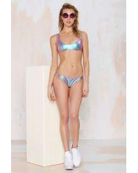 Nasty Gal - Blue Tupac Hologram Bikini Bottoms - Lyst