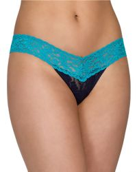 Hanky Panky | Blue Low Rise Thong | Lyst