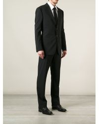 Giorgio Armani - Black Two Button Suit for Men - Lyst