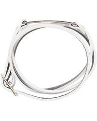 McQ | Metallic White Razor Charm Bracelet for Men | Lyst