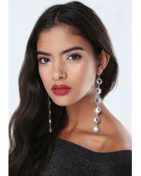 Bebe - Metallic Blue Stone Duster Earrings - Lyst
