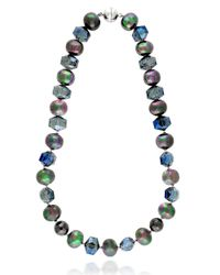 Lord & Taylor | Blue Sterling Silver And Hematite Bead Necklace | Lyst