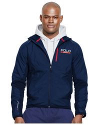 Polo Ralph Lauren | Blue Polo Sport Hybrid Tech Jacket for Men | Lyst