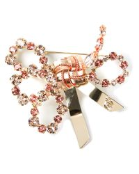 DSquared² | Metallic Embellished Bow Brooch | Lyst
