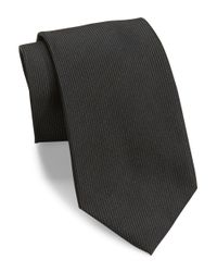 DKNY | Black Solid Silk Tie for Men | Lyst