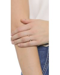 Katie Rowland | Pink Desi Mini Ring - Rose Gold/Pearl | Lyst