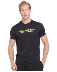 Polo Ralph Lauren | Black Polo Sport Performance Jersey T-shirt for Men | Lyst