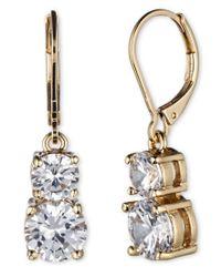 Anne Klein | Metallic Flawless Double Drop Earrings | Lyst