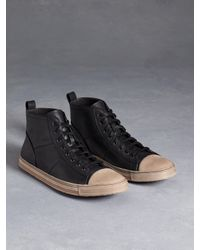John Varvatos | Black Mick High Top Sneaker for Men | Lyst