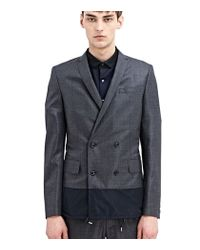 Kolor - Gray Double Breasted Wool Jacket for Men - Lyst