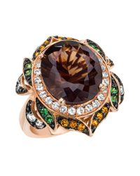 Le Vian | Pink 14kt. Strawberry Gold Smoky Quartz And Multi Stone Ring | Lyst