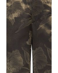 J. Mendel - Metallic Iris Lurex Georgette Wide Leg Trousers - Lyst