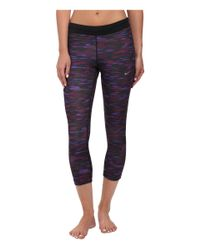 Nike | Purple Dri-fit™ Printed Relay Crop | Lyst
