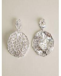 Aurelie Bidermann - Metallic Vintage Lace Earrings - Lyst