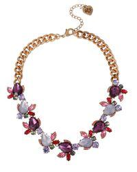 Betsey Johnson | Purple Antique Floral Necklace | Lyst