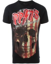 Philipp Plein - Black 'philipp Tour' T-shirt for Men - Lyst