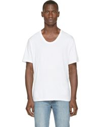 T By Alexander Wang - White Scoopneck T_shirt for Men - Lyst
