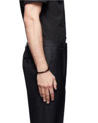 Eddie Borgo - Black Large Pyramid Cuff for Men - Lyst