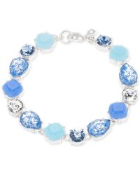 Nine West | Metallic Silver-tone Blue Multi-stone Bracelet | Lyst