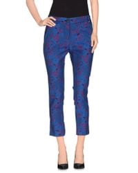 Pinko - Blue Casual Trouser - Lyst