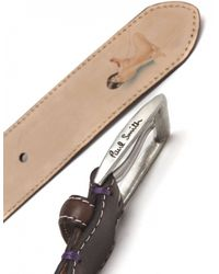 Paul Smith - Brown Naked Lady Leather Belt for Men - Lyst
