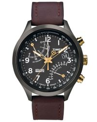 Timex | Brown Mens Chronograph Intelligent Quartz Indigloãâ Watch for Men | Lyst