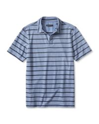 Banana Republic | Blue Micro-stripe Jersey Polo for Men | Lyst