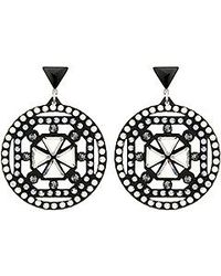 Swarovski | Black Belle Geometric Pierced Earrings | Lyst