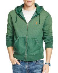 Polo Ralph Lauren | Green Full-zip Fleece Hoodie for Men | Lyst