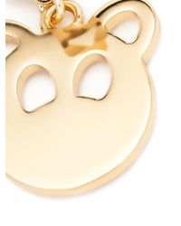 Moschino - Metallic Teddy Bear Earrings - Lyst