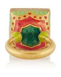 Alice Cicolini | Green Jodhpur Enameled 22-karat Gold Chrysoprase and Diamond Ring | Lyst