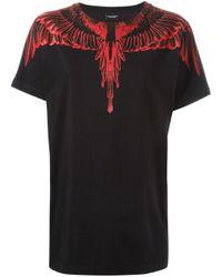 Marcelo Burlon - Black Wing Print T-shirt - Lyst