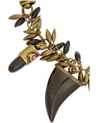 Isabel Marant - Black Formentera Brass Horn and Resin Wrap Necklace - Lyst
