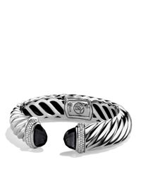 David Yurman - Metallic Waverly Bracelet With Black Onyx & Diamonds - Lyst