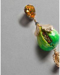 Dolce & Gabbana - Multicolor Fig Earrings - Lyst