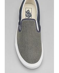 Vans - Blue Classic Slipon Denim Mens Sneaker for Men - Lyst