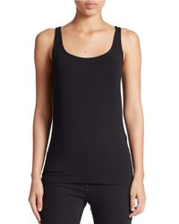 Lord & Taylor | Black Plus Stretch Roundneck Tank | Lyst