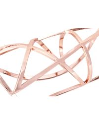 Pamela Love | Pink Pentagram Cuff In Rose Gold | Lyst