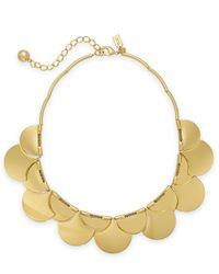kate spade new york | Metallic Gold-Tone Layered Scalloped Frontal Necklace | Lyst