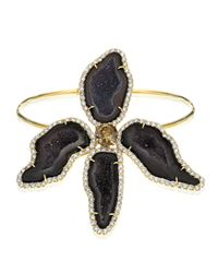 Kimberly Mcdonald - Multicolor Dark Geode & Pavé Diamond Orchide Bracelet - Lyst