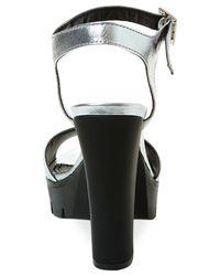 Steve Madden | Metallic Women's Traviss Lug Bottom Platform Dress Sandals | Lyst