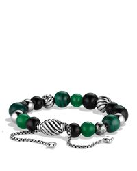 David Yurman - Green Spiritual Beads Bracelet - Lyst