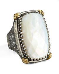 Konstantino - White Rectangular Mother Of Pearl Selene Ring - Lyst