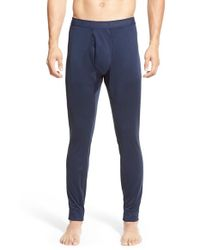 Patagonia - Blue 'capilene 3' Midweight Base Layer Pants for Men - Lyst