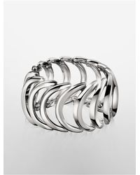 Calvin Klein | Metallic Platinum Body Stainless Steel Ring | Lyst