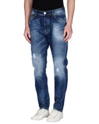 Frankie Morello - Blue Denim Trousers for Men - Lyst
