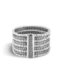 John Hardy | Metallic Classic Chain 39mm Multi Row Bracelet In Silver | Lyst