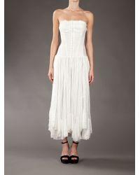 Yohji Yamamoto - White Tube Dress - Lyst